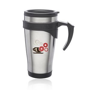 16 Oz. Sporty Stainless Steel Travel Mugs