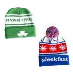 Custom Premium Knit Beanie w/Cuff