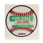 Custom Static Cling Vinyl Decal - Custom or Stock Baseball Art (2