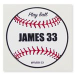 Custom Removable Adhesive Vinyl Decal - Custom or Stock Baseball Art (3
