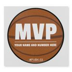 Custom Permanent Adhesive Vinyl Decal - Custom or Stock Basketball Art (3