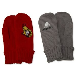 Thick Knitted Gloves - Embroidered (Priority - Pair)