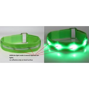LED Polyester Armband w/4 Piece LED Light (Priority)