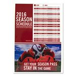 Custom Sports Calendar Static Cling Vinyl Decal - Custom or Stock Calendar Art (6