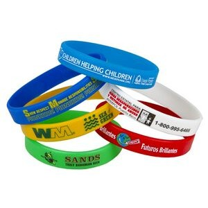 "1/2"" Screen Printed Awareness Bracelets (Super Saver)"