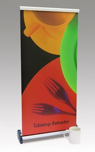 Tabletop Retractable Banner Stand