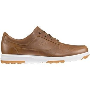 Footjoy Golf Casual Men's Golf Shoes - Taupe Smooth