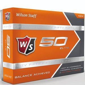 Custom Wilson Staff Fifty Elite Orange Golf Balls - 1 Dozen