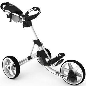 Custom Clicgear Model 3.5+ Golf Push Cart - Arctic White