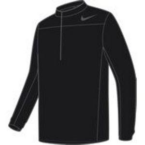 Custom Nike Shield 1/2 Zip Core Men's Wind Jacket - Black