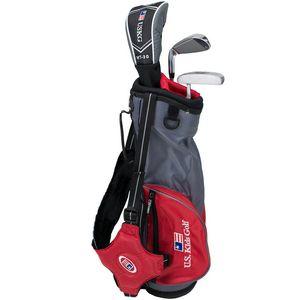 Custom U.S. Kids Golf UL39-u 3 Club Carry Set - Grey/Red Bag