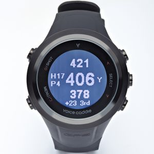 Custom Voice Caddie T2 Hybrid Golf GPS Watch - Black