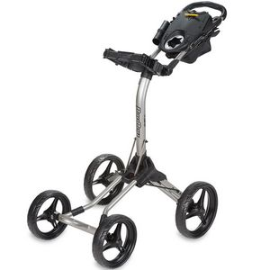Custom Bag Boy Quad XL - Push Cart - Silver/Black