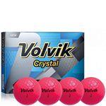 Custom Volvik Crystal Green Golf Balls - 1 Dozen (Pink)