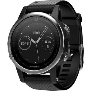 Custom Garmin Fenix 5S Multisport GPS Watch - Silver/Black