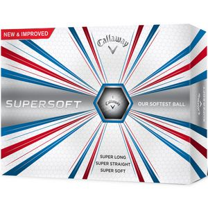 Custom Callaway Supersoft 17 - Golf Balls - 1 Dozen White