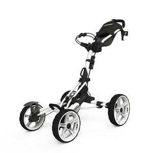 Custom Cligear Model 8.0 Golf Push Cart - White