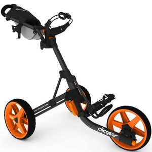 Custom Clicgear Model 3.5+ Golf Push Cart - Orange/Charcoal Gray