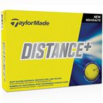 Custom TaylorMade TM Distance+ Yellow Golf Balls - 1 Dozen