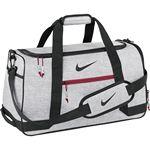 Custom Nike Sport Duffle III Bag - Silver/Red/Black