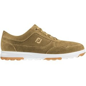 Footjoy Golf Casual Men's Golf Shoes - Tan Waxed Suede