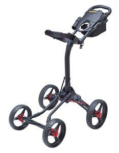 Custom Bag Boy Quad XL Push Cart - Matte Black/Red