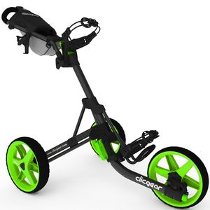 Custom Clicgear Model 3.5+ Golf Push Cart - Charcoal Gray/Lime Green