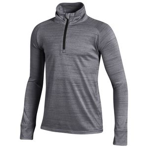 Custom Under Armour Youth Girl's Space Tech 1/4 Zip Pullover Shirt - Carbon Heather Gray