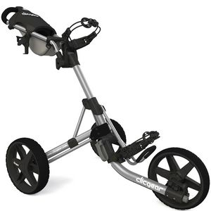 Custom Clicgear Model 3.5+ Push Golf Cart - Silver/Black