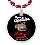 Custom Mini Football Shaped Mardi Gras Beads with Decal on Disk