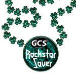 Custom Clover Shaped Mardi Gras Beads with Inline Medallion