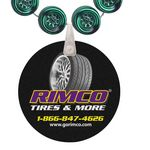Custom Racing Tire Shaped Mardi Gras Beads with UV Digital Imprint on Disk