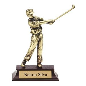 Gold Cast Metal Finish Male Golf Resin Award