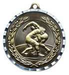 Custom Wrestling Medal - Antique Bronze