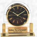 Custom Acrylic & Brass Clock w/ White Dial