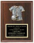 Custom Cherry Finished Plaque w/ Baseball Relief (6
