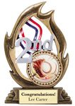Custom Flame Series Resin Award (2nd) w/ 2