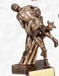 Custom Superstars Small Resin Sculpture Award (Wrestling)