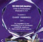 Custom Acrylic Faceted Octagon Award (5