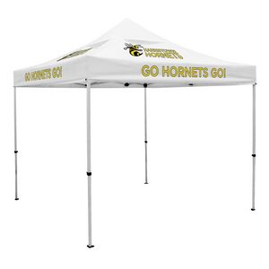 Custom Deluxe 10' x 10' Event Tent Kit w/Vented Canopy (Full-Color Thermal Imprint/6 Locations)Soft Case
