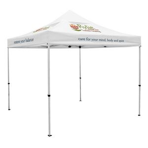 Custom Premium 10' x 10' Event Tent Kit w/Vented Canopy (Full-Color Thermal Imprint/4 Locations)