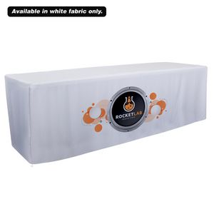 Custom 8' Fitted Table Throw (Dye Sublimation, Front Only)