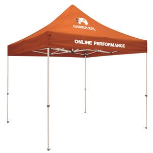 Custom Standard 10'x10' Event Tent Kit (Full-Color Thermal Imprint/2 Locations)