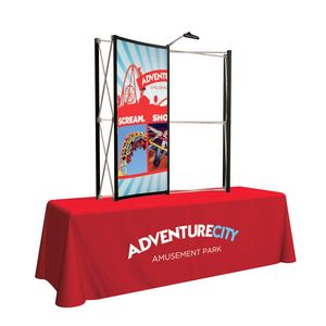 Custom 6' Show 'N' Rise Tabletop Mural Curved Center Panel