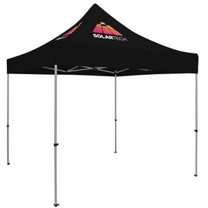 Custom Premium Aluminum 10' Tent Kit (Imprinted, 2 Locations)