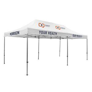 Custom Premium 10' x 20' Event Tent Kit (Full-Color Thermal Imprint/5 Locations)