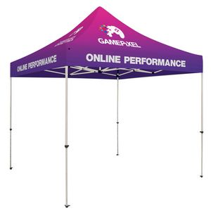 Custom Standard 10' x 10' Event Tent Kit (Full-Color Full Bleed/Dye-Sublimation)