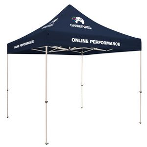 Custom Standard 10' x 10' Event Tent Kit (Full-Color Thermal Imprint, 4 Locations)