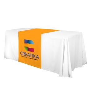 "28"" LazerLine Table Runner Full-Color Front Only"