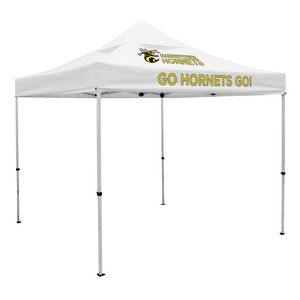 Custom Deluxe 10' x 10' Event Tent Kit w/Vented Canopy (Full-Color Thermal Imprint/2 Locations)Soft Case